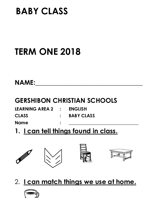 BABY CLASS TERM ONE PACKAGE.pdf