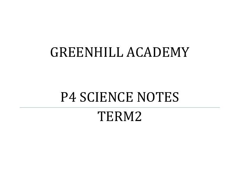 P_4 SCIENCE LESSON NOTES TERM II.pdf