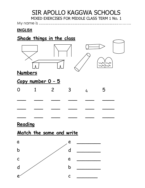 MIDDLE CLASS MIXED EXRCISES TERM 1.pdf