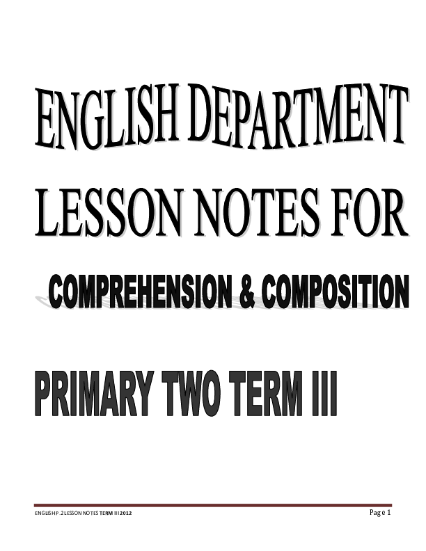P2 ENGLISH LESSON NOTES FOR TERM 3.pdf