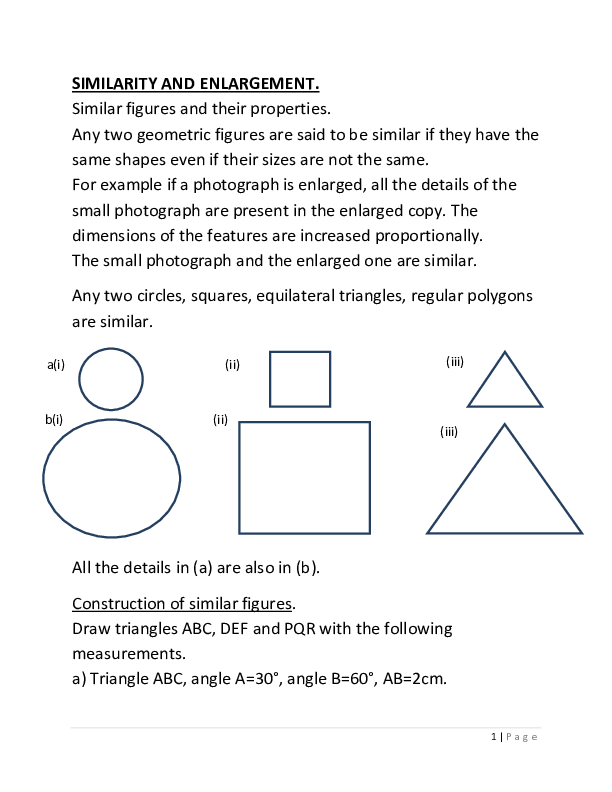 S3 Maths Similarity and Enlargement.pdf