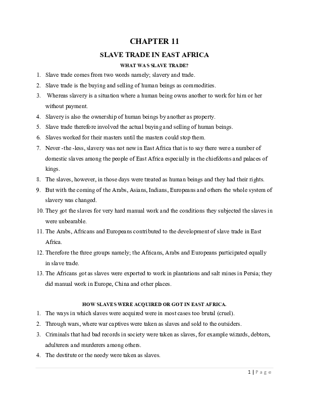 S_2 History Chp 11 - SLAVE TRADE IN EAST AFRICA.pdf